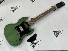 New listing Epiphone SG Classic Guitar Husk P90 Faded Green