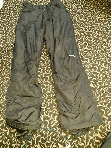 Outdoor Gear Unisex Insulated Snow Ski Pants Small Black Winter S