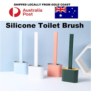 Bathroom Silicone Bristles Toilet Brush Creative Cleaning Set With Holder