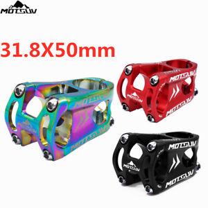 MOTSUV Aluminum 0° Stems MTB Mountain Road Bike Handlebar bar Short Stem 31.8*50