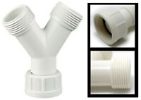 Home Parts ltd Universal Dishwasher Drain Hose Y Piece Splitter Connector 3 Wa