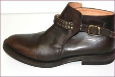 HOLLYWOOD TRADING CO HTC Boots Tout Cuir Marron T 36 TBE