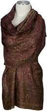 Pashmina  Schal Braun 100% Cashmere scarf stole écharpe Foulard 75 x 220cm brown