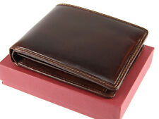 Visconti Mens Real Italian Leather Wallet For Credit Cards, Notes, Coins - ENO1