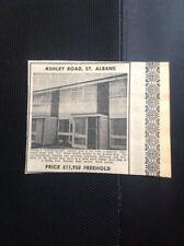 L2-9 Ephemera 1973 Advert House Sale   Ashley Road St Albans Freehold