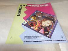 CULTURE CLUB - Publicité de magazine / Advert COLOUR BY NUMBERS !!!
