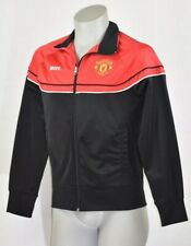 Manchester United Football Club Black/Red Full Zip 2-Sided Jacket Mens Sz Small