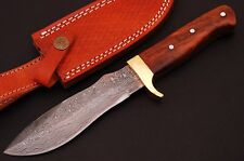 Damascus Steel Blade Hunting Knife, Rose Wood Handle Art No (4007)