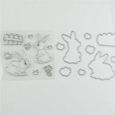 Easter Rabbit taglio di metalli Dies Timbro Per fai da te Scrapbook Album carta!