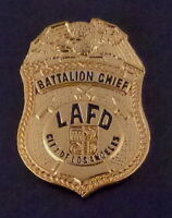 Los Angeles LAFD BATTALION CHIEF CA California Fire Dept. Mini Badge LAPEL PIN