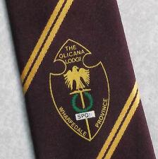 Olicana Lodge Wharfedale PROVINCIA FREEMASONRY massonica Masons Tie retrò vintage