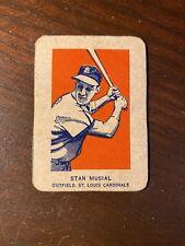 1952 Wheaties Card Stan Musial Batting St. Louis Cardinals  RARE!