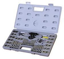 # T9117, 60Pcs Metric UNC UNF NPT Industrial quality HSS Tap & Die SET boxed