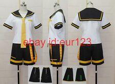 Vocaloid 2 Len Kagamine Cosplay Costume Custom