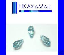 6 Swarovski Crystal Beads Teardrop 6000 11mm AQUAMARINE