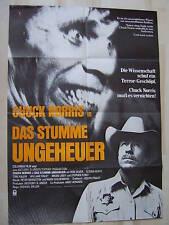DAS STUMME UNGEHEUER - Chuck Norris - Filmplakat A1 - HORROR
