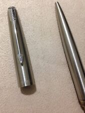 VINTAGE PARKER 45 FLIGHTER CHROME TRIM BALLPOINT PEN-ENGLAND-BLACK INK.