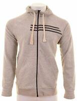 ADIDAS Mens Hoodie Sweater Medium Grey Cotton  BU10