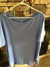 Lands'  End Short Sleeve Tee,Boat Neck, Womens Size 1X,(16-18) Soft T Shirt Top