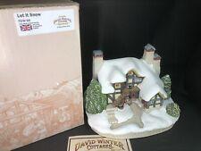 "David Winter Rare Hymns And Carols ""let It Snow� New Perfect Coa Box"