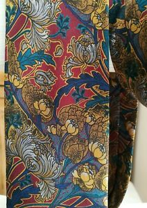 """PACO RABANNE VINTAGE Italy 100% Silk Georgette Gold Classic Floral Neck Tie 59"""""""