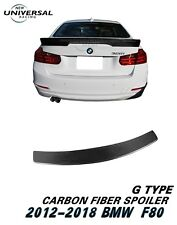 Carbon Fiber Rear Trunk Spoiler Lip Wing For 2014-2018 BMW F80 M3 Sedan Type G