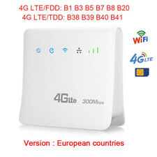 Unlocked 300Mbps 4G LTE Wifi Router CPE Mobile with LAN Port Support SIM card