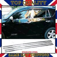 Chrome Windows Frame Trim 4 doors S.STEEL Toyota RAV4 2005-2012