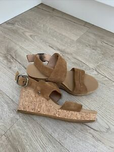 Tan Ugg Elena Wedge Sandals Size 37 (4)