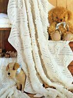 BABY BLANKET / SHAWL in 2 sizes  Knitting Pattern  DK & 4 PLY - No 19BK
