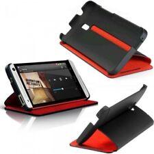 HTC HC-V851 Double Dip Flip Cover mit Stand für One Mini schwarz/rot