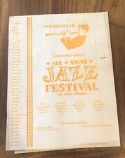 1976 MANASSAS - ALLSTAR Jazz Festival Program - SWING BANDS