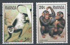 RWANDA 1978 MONKEY STAMPS 2 MNH