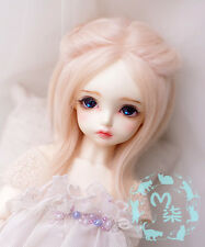 "5""-6"" 14cm BJD fabric fur wig soft pink for AE PukiFee lati 1/8 Doll Antiskid"