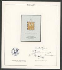UNGARN Nr. 1 OFFICIAL REPRINT UPU CONGRESS 1984 MEMBERS ONLY !! RARE !! z2479