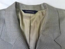Burberry's Men's 2 Button Wool Gray Check Single Vent Sports Jacket Measured 40R