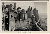 Carcassonne France Medievil Fortress Town 1930s Trade Ad Card