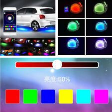 4 in1 Car RGB Colors LED Sound Active Chassis Atmosphere Light Phone App Control