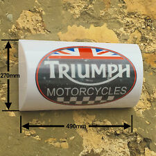 Triumph Motorcycle Vintage Garage Light Box  LED Display Games Room Sign Leyland