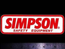 Simpson Safety Equipment - Original Vintage 1970's 80's Racing Decal/Sticker