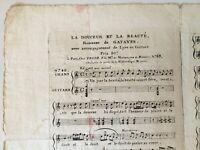Partitura La Suavidad Y La Belleza Gatayes Lira Guitarra Brother Hilo Siglo XIX