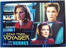 Star Trek Voyager Heroes & Villains Trading Card Basic Set Plus Promo P1