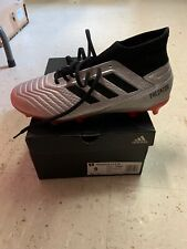 Adidas Men's Predator 19.3 Fg Soccer Cleats (Silver/Black/Red) Size: 9 New!