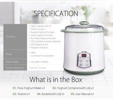 Flora FL-YME-1202L Yogurt Maker - White