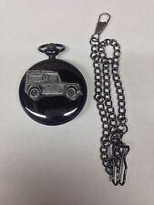 Reloj de bolsillo Land Rover Defender ref115 Emblema Pulido negro caso para hombres