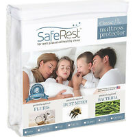 Mattress Protector Waterproof Pad Hypoallergenic Fitted Sheet Style Cover Hotel