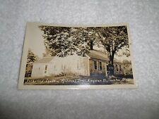 Real Photo Postcard CYNTHIA RICHMOND HOUSE Taunton MAss 1927-1940 AZO Stamp Box