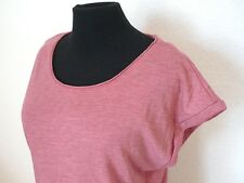 NEU ORIGINAL ESPRIT COLLECTION DAMEN T-SHIRT EDC SHIRT RUNDKRAGEN ROSA SEXY WOW