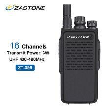 ZASTONE ZT-398 Ham Handheld Radio UHF 400-480MHz 16 Channels 3W Walkie Talkie