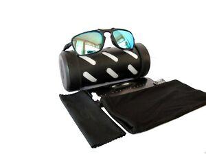 Pre-owned Oakley Sunglasses Badman Dark Carbon w/Blue-Green Polarized